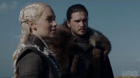 Game of Thrones Cast Commentary on Jon, Daenerys, and Jorah Meeting (HBO)