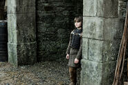 Bran in the archway