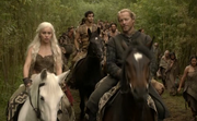 Dany e Jorah atravessando o Mar Dothraki
