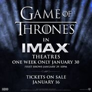 Game Of Thrones IMAX