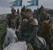 Renly's Kingsguard with Brienne Loras and heraldry