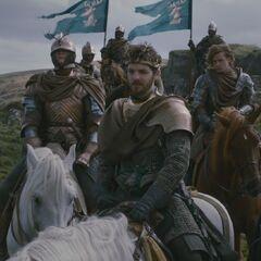 Brienne jako straż przyboczna Renly'ego.