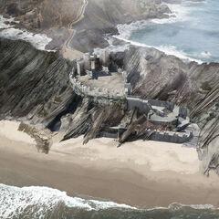 Drachenstein; CA-Ansicht von der Küste