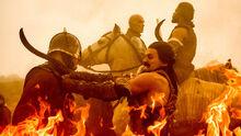 Рэндилл во время битвы 7x04