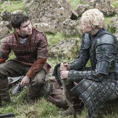 Brienne i Podrick, [[Wielki Wróbel (odcinek)|Wielki Wróbel].]