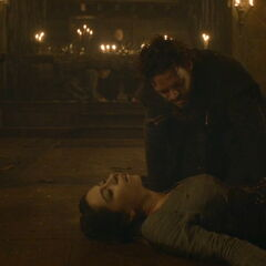 Robb over the body of Talisa in