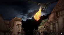 Эймонд сжигает поселения в Речных землях