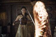 Нимерия нападает на Тристана Мартелла 6x01