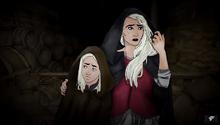 Бегство Рейниры и маленького Эйгона