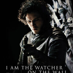 Jon featured in a promotional poster for Season 1 of <i>Game of Thrones</i>.