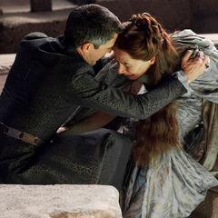 Petyr Baelish i Lysa Arryn.