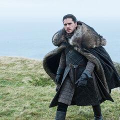 Jon approaches the dragon.