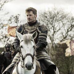 Jaime podczas oblężenia Riverrun.