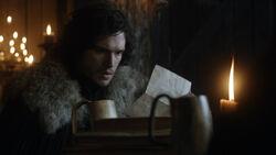 Джон читает письмо 1x08