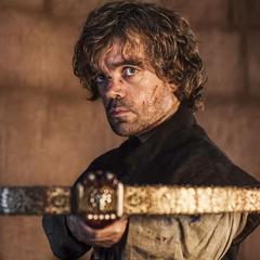 Tyrion mierzy z kuszy w kierunku Tywina.