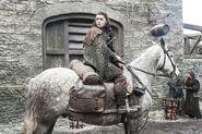 Арья Старк на лошади 7x02