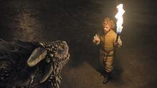 Тирион Ланнистер и дракон 6x02