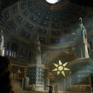 Joffrey zeigt Margaery die große Septe.