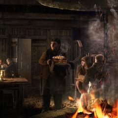 Arya und Heiße Pastete im Gasthaus am Kreuzweg