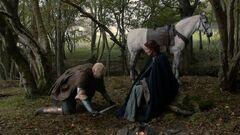 Brienne kneels