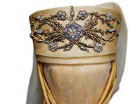 Olenna, Purple Wedding headpiece