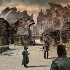 Jon, Bronn und Tyrion in der Drachengrube