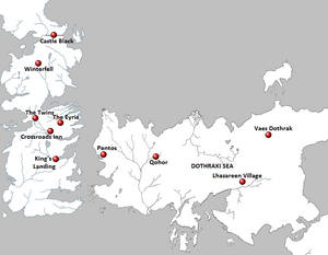 Season 1 Locations map
