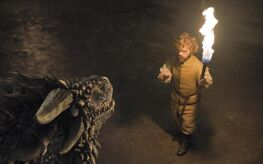 Tyrion faces dragons