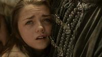 Arya durante a execução de seu pai.
