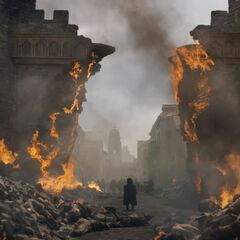 Das zerstörte Tor von Königsmund