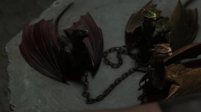 File:Drogon, Viserion and Rhaegal 2x10.png
