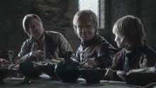 Tommen Tyrion and Jaime Kingsroad