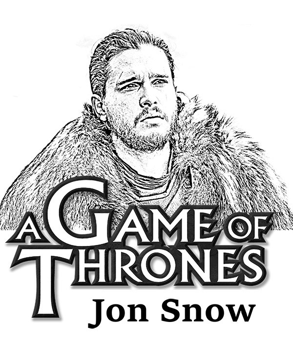 Jon Snow Coloring Page
