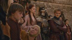 Tommen cries at Myrcella's departure