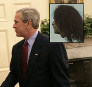 George W Bush severed-head comparison
