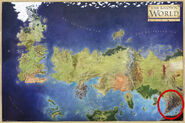 Асшай и Край Теней на карте мира