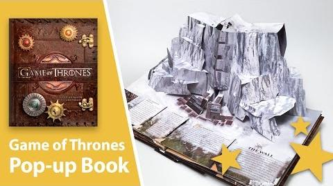 Game of Thrones Pop-Up Book with giant map of Westeros