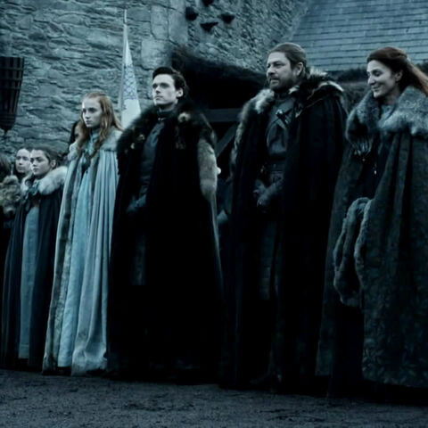 The Starks await the arrival of the king in