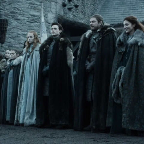Sansa and her family await the arrival of the king in