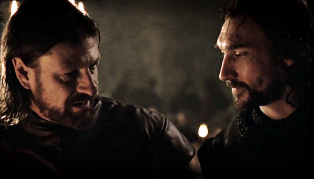 File:Winter is Coming Ned and Benjen.jpg