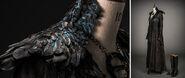 Dark Sansa costume behind the scenes