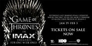 Game of Thrones in IMAX Tickets on Sale Now