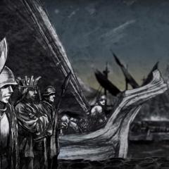Imagem que descreve a rebelião de Greyjoy .