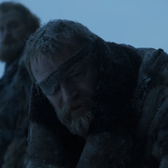Beric opłakuje Thorosa.