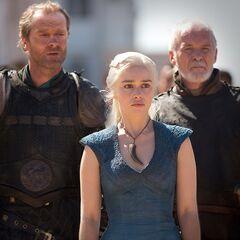 Dany, Jorah i Barristan.
