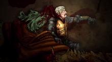 Aegon II and Sunfyre badly injured