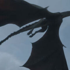 Drogon flying over 龍石島.