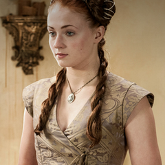 Sansa before her wedding.