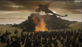 Tarlys burned by Daenerys