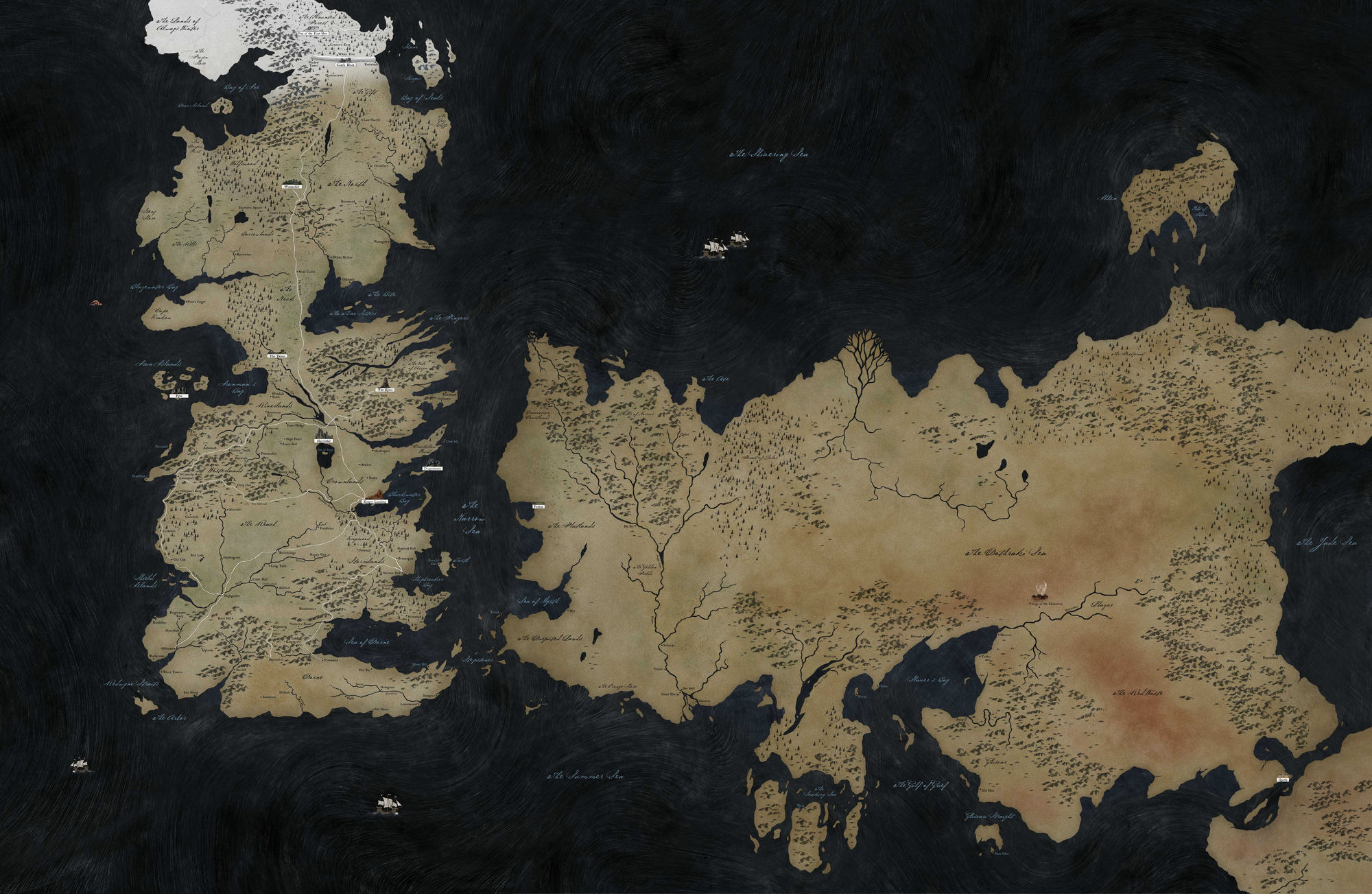 Game Of Thrones Map Of The World Known world | Game of Thrones Wiki | Fandom